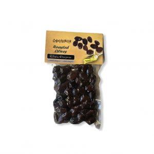 Geröstete schwarze Oliven