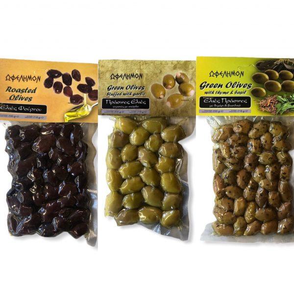 Verschiedenen Oliven